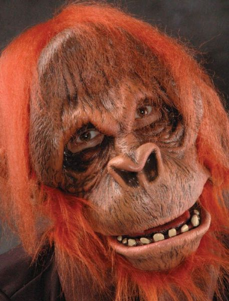 Adult Unisex Deluxe Ape Costume Mask, Gloves & Feet Orangutan